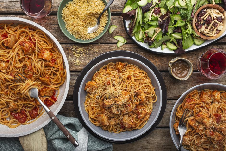 Parmigiana-Style Chicken Spaghettini