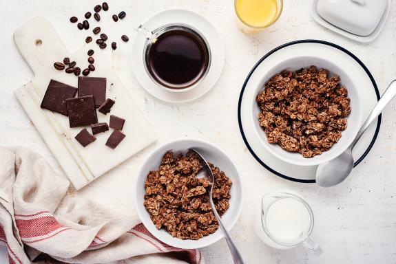 Chocolate + Coffee Granola