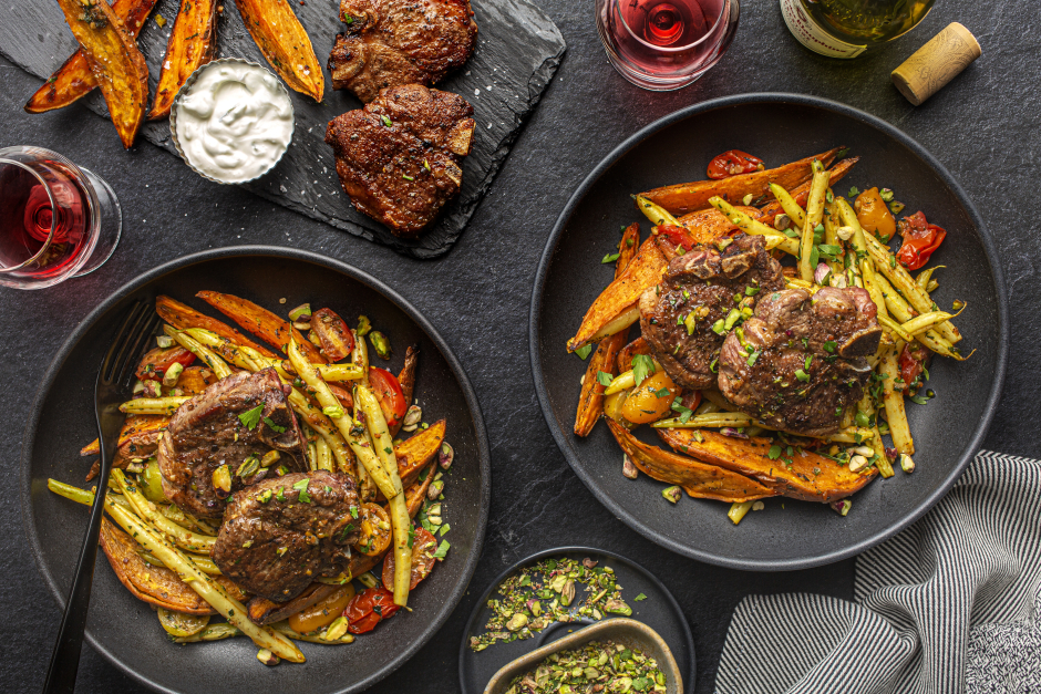 Greek-Style Lamb Chops with Pistachios & Fresh Herbs