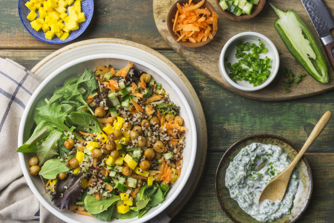 Bol santé aux pois chiches BBQ & quinoa