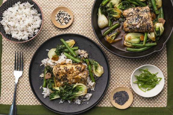 Ginger-Soy Poached Haddock