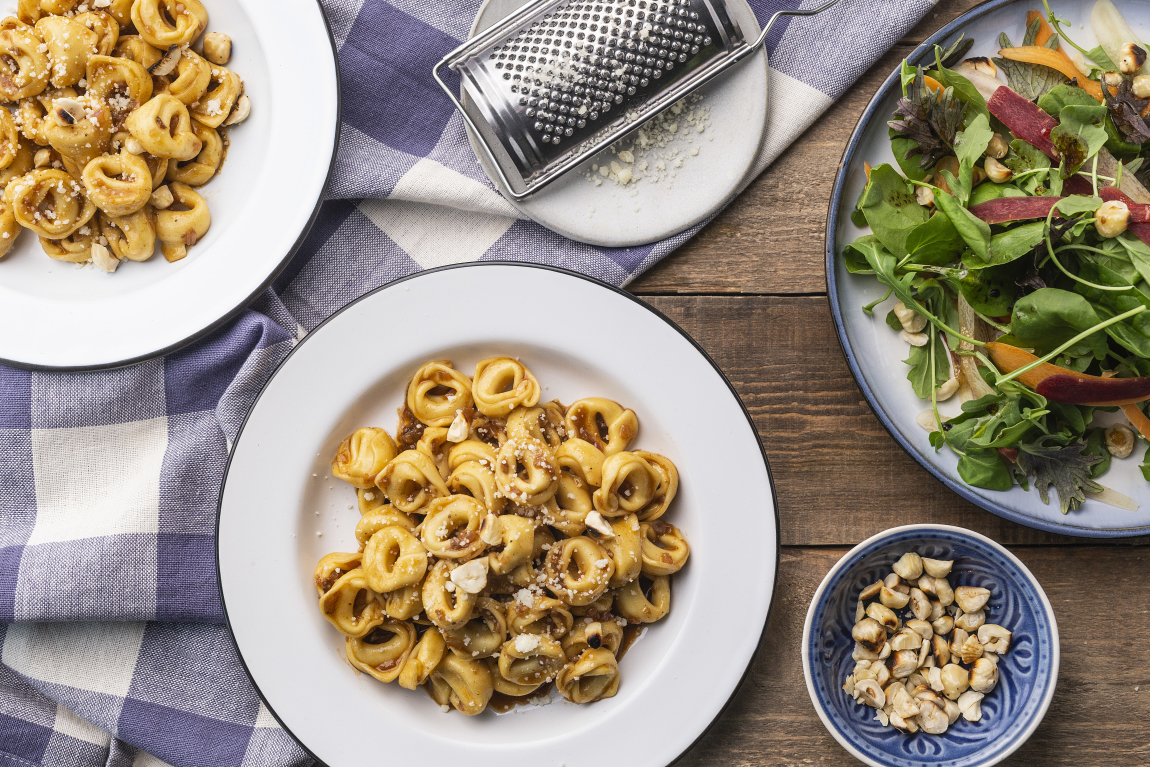 Cheese Tortellini with Balsamic Brown Butter Sauce