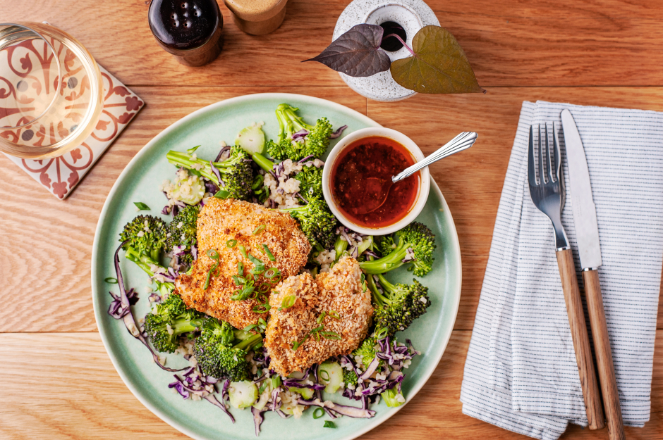 Oven 'Fried' Chicken with Spiced Honey Butter