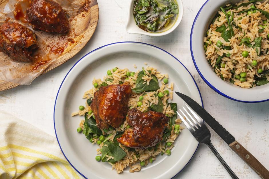 Portuguese Chicken with Charred Scallion Salsa