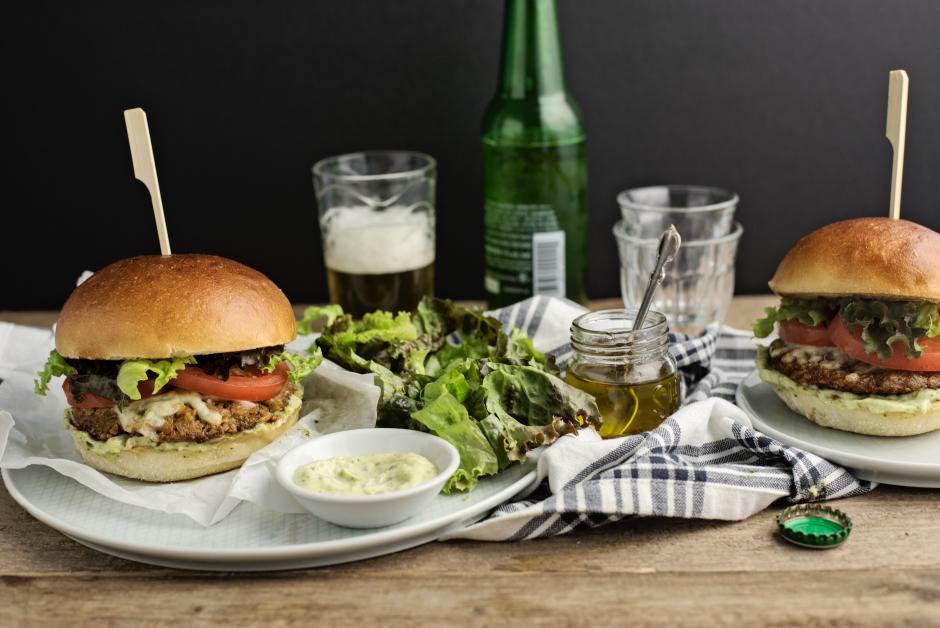 Tuscan Veggie Burgers with Mozzarella