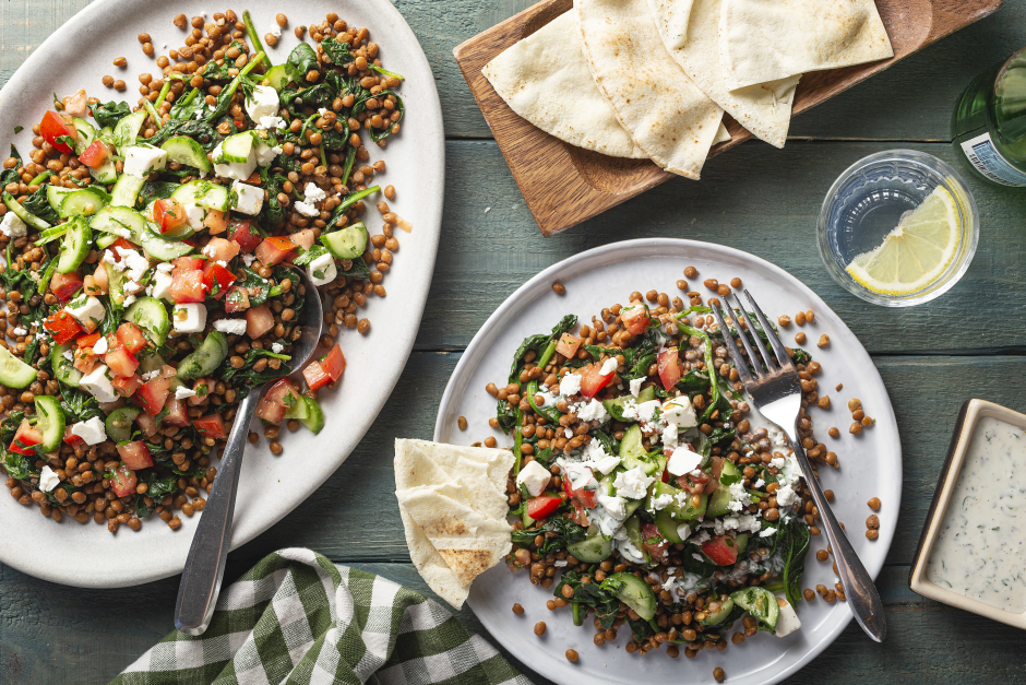 Lentil 'Tabbouleh' with Toum
