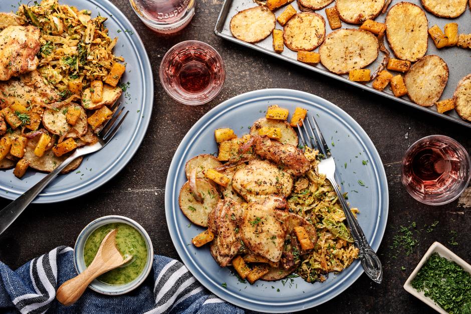 Herbed Chicken & Butternut Squash Traybake