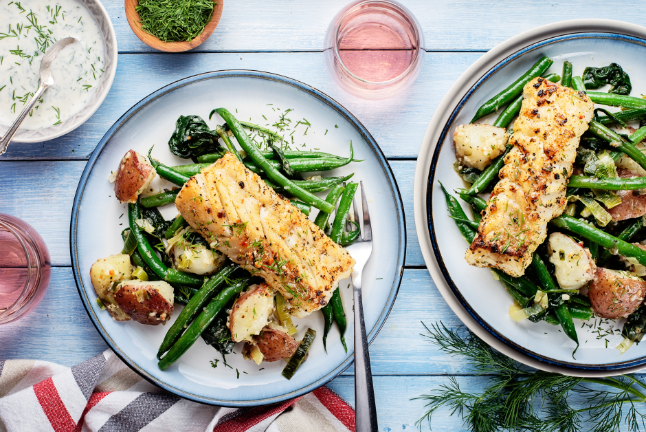 Spiced Cod with Caramelized Leeks