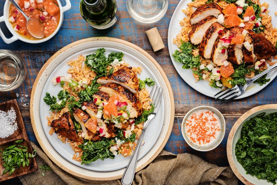 Seared Chicken & Cara Cara Orange-Radish Salsa