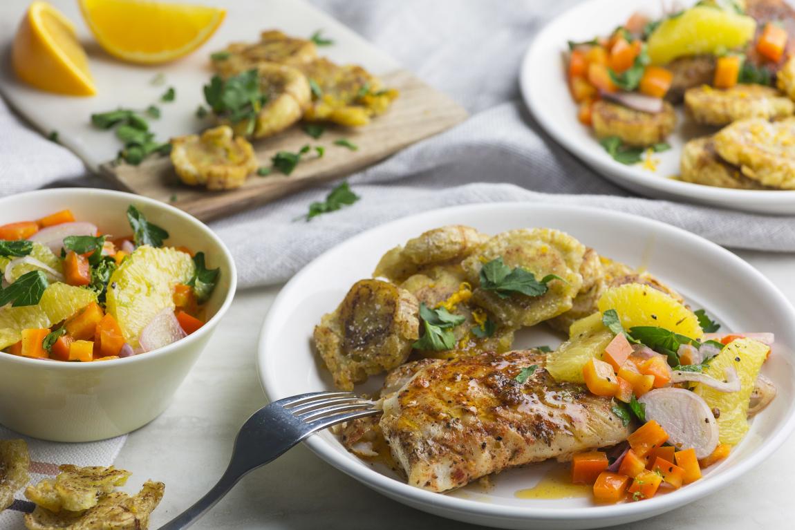 Aiglefin avec salsa aux agrumes
