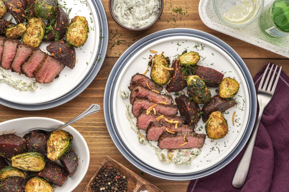 Seared Steaks with Tartar Sauce