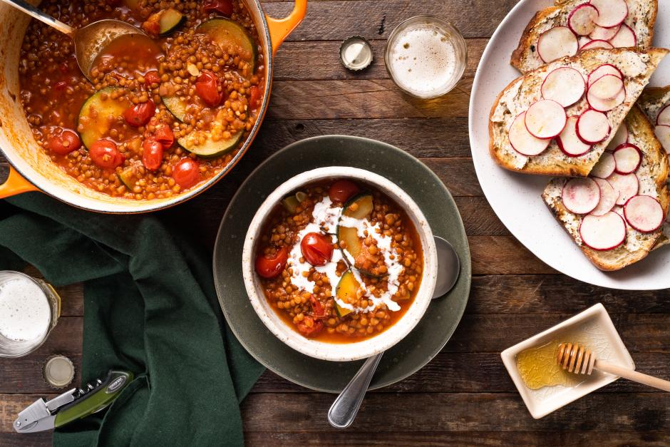 Creamy Lentil & Tomato Soup