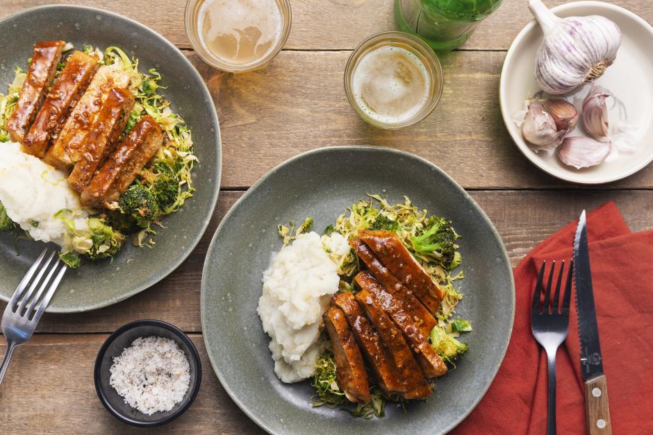Apple & Bourbon Glazed Pork Chops