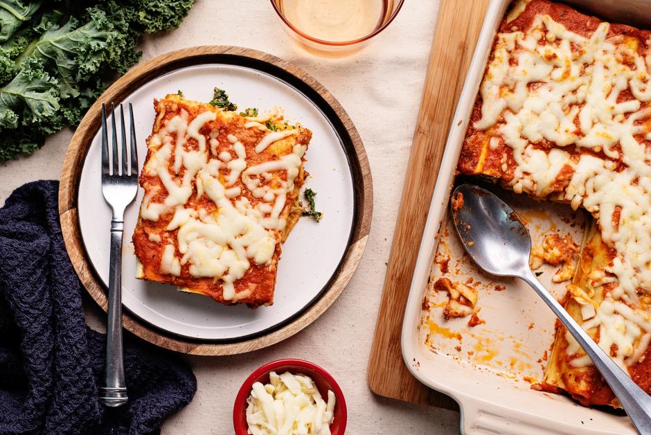 Kale & Butternut Squash Lasagna Roll-Ups