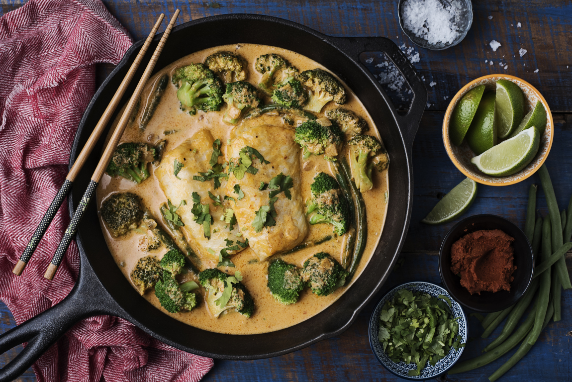 One-Pan Thai Coconut Red Curry with Cod