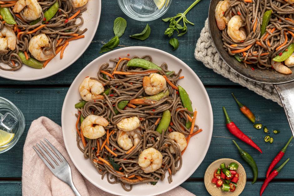 Shrimp, String Pea & Carrot Stir-Fry
