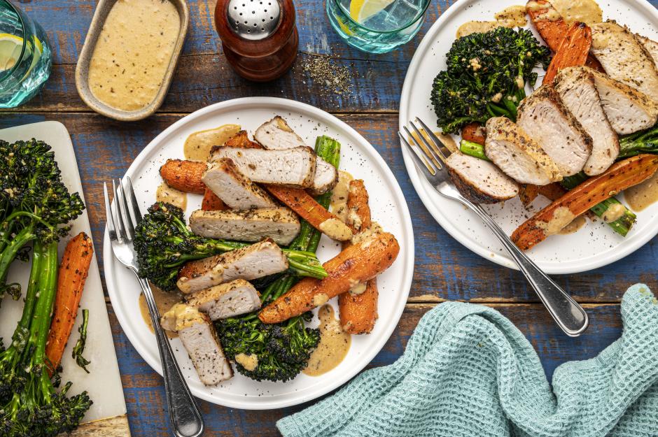 Italian-Spiced Pork Chops & Grana Padano Sauce