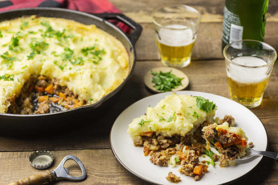 Ground Beef Skillet Parmentier with Leeks