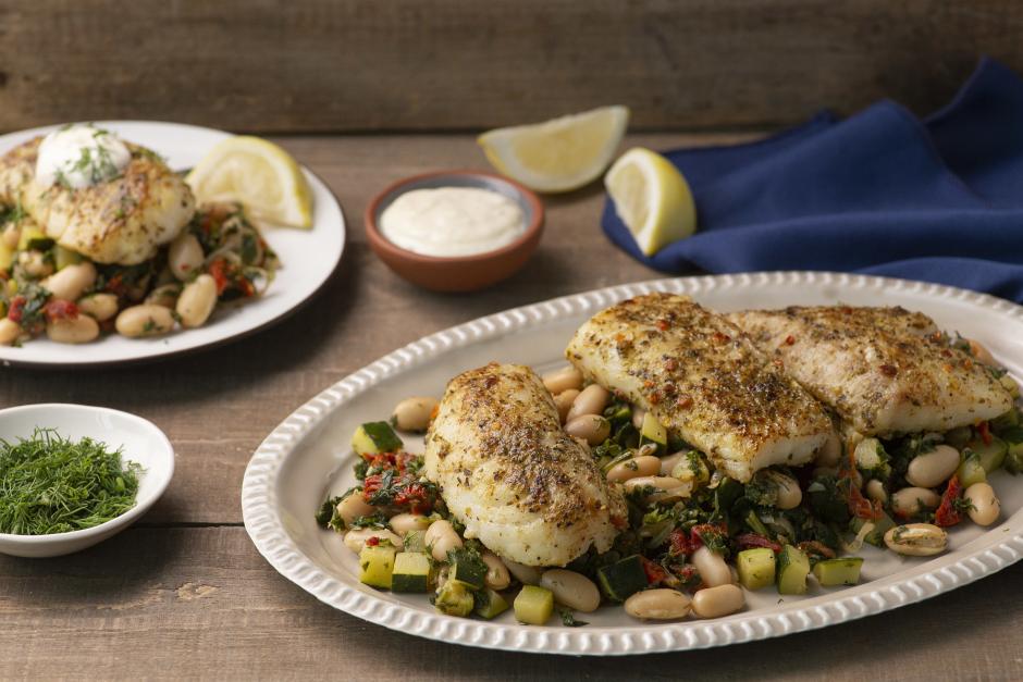Seared Cod with Lemon Aioli
