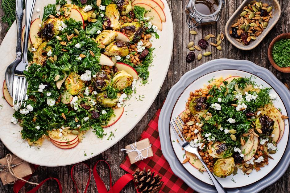 Bulgur Winter Salad with Lentils