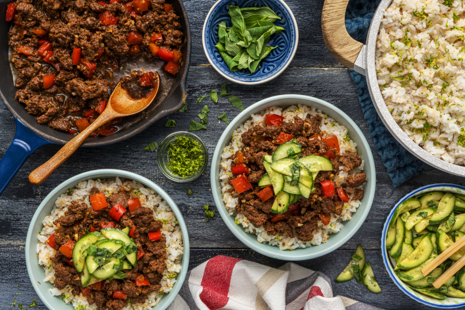 Lemongrass Ground Beef Bowls