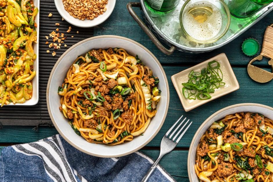 Spicy Ground Pork Noodles