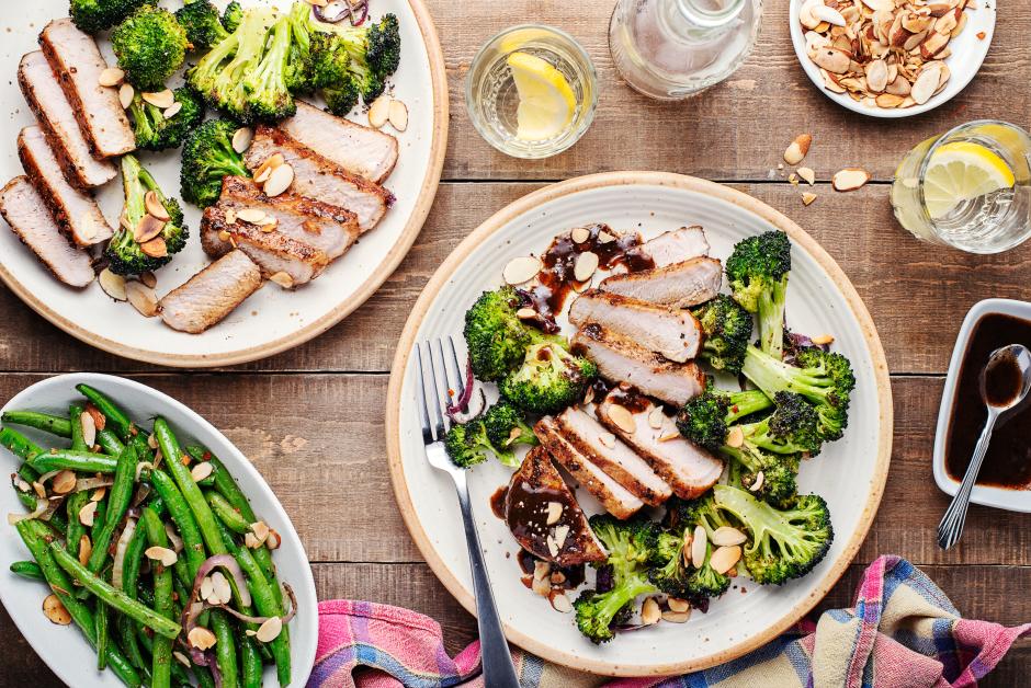 Blueberry-Balsamic Pork Chops