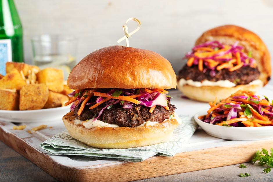 Cotija-Cilantro Beef Burgers