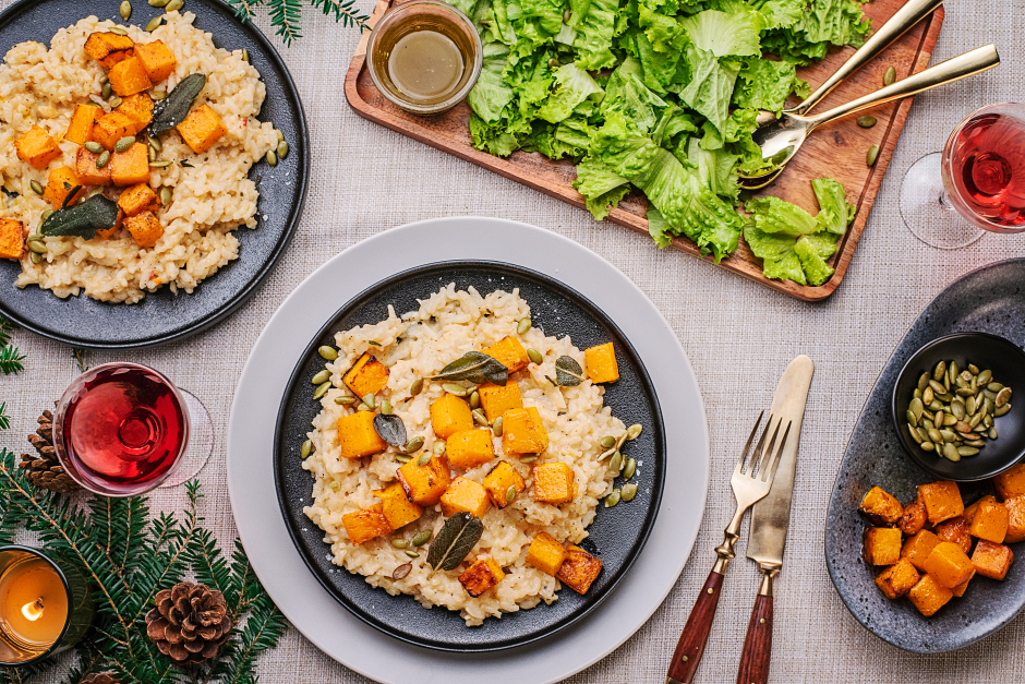Risotto with Roasted Squash & Fried Sage