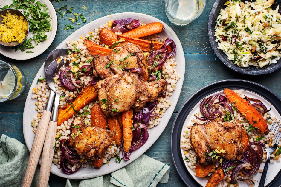 Lebanese-Spiced Chicken with Roasted Carrots