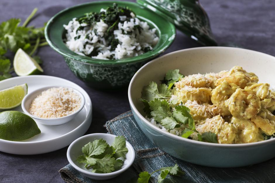 Sri Lankan-Spiced Shrimp & Rice Curry