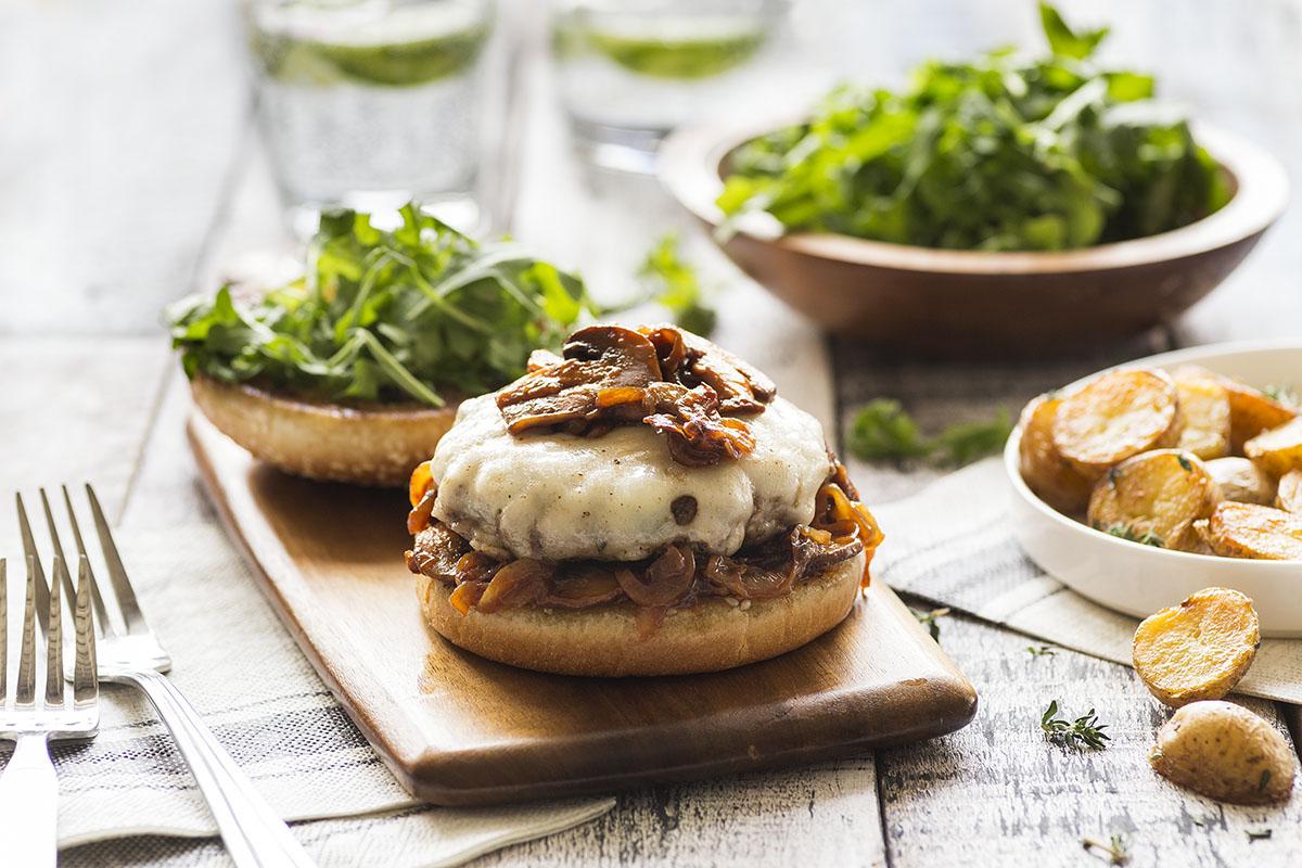 Swiss Mushroom Burgers